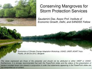 Saudamini Das, Assoc Prof. Institute of Economic Growth, Delhi, and SANDEE Fellow