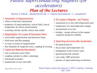 1. Introduction to Superconductors where to find more information
