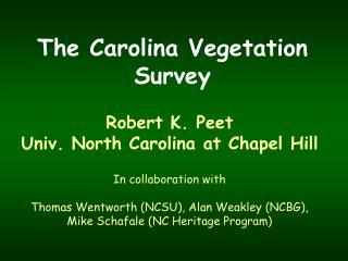 The Carolina Vegetation Survey