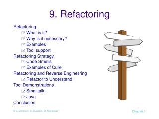 9.  Refactoring