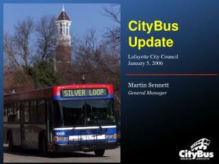 CityBus Update