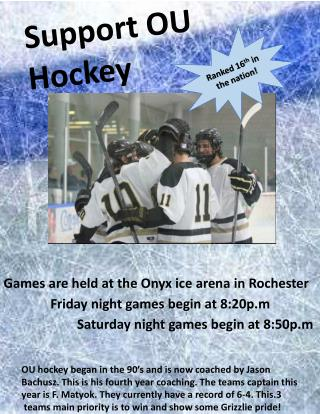 Support OU Hockey