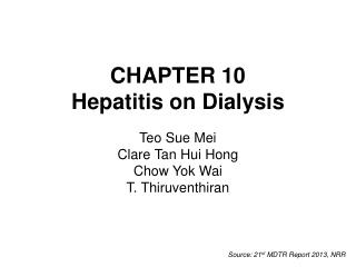 CHAPTER 10 Hepatitis on Dialysis