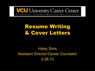 Resume Writing  & Cover Letters