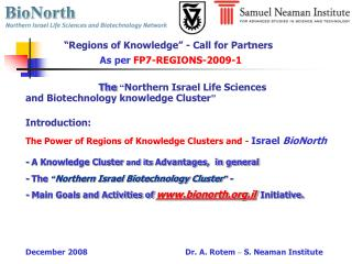 """Regions of Knowledge"" - Call for Partners"