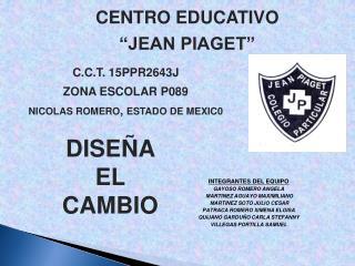 CENTRO  EDUCATIVO �JEAN PIAGET�