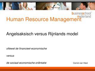 Rijnlandse discussie…..
