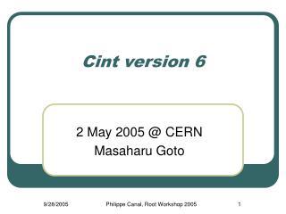 Cint version 6