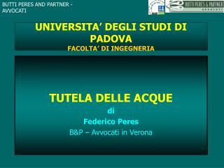 UNIVERSITA  DEGLI STUDI DI PADOVA FACOLTA  DI INGEGNERIA