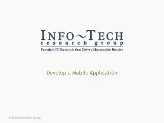Develop a Mobile Application