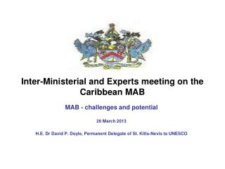 Inter-Ministerial and Experts meeting on the Caribbean MAB