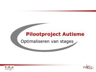 Pilootproject Autisme