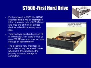 ST506-First Hard Drive