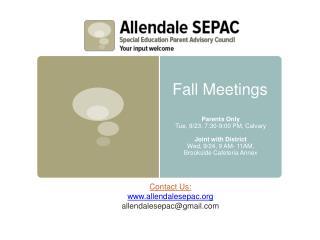 Fall Meetings