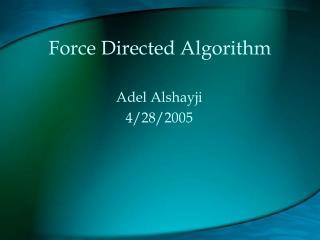 Force Directed Algorithm