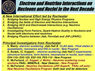 Electron and Neutrino Interactions on Nucleons and Nuclei in the Next Decade