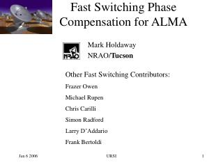 Fast Switching Phase Compensation for ALMA