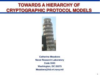 TOWARDS A HIERARCHY OF CRYPTOGRAPHIC PROTOCOL MODELS