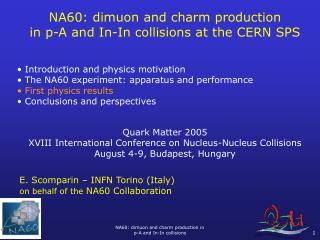 NA60: dimuon and charm production  in p-A and In-In collisions at the CERN SPS