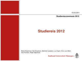 Studiereis 2012
