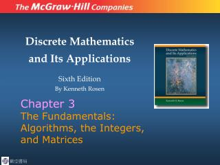 Chapter 3 The Fundamentals: Algorithms, the Integers, and Matrices