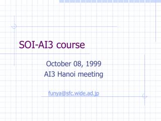 SOI-AI3 course