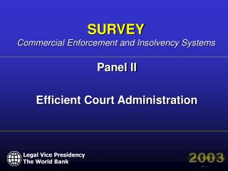 Panel II  Efficient Court Administration