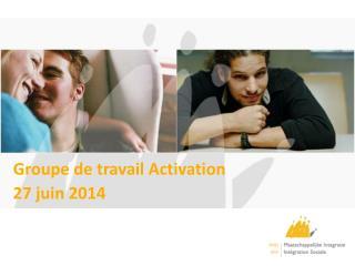 Groupe de travail Activation  27 juin 2014