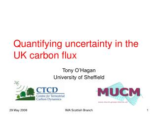 Quantifying uncertainty in the UK carbon flux