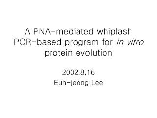 A PNA-mediated whiplash PCR-based program for  in vitro  protein evolution