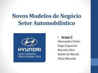 Novos Modelos de Neg�cio Setor Automobil�stico