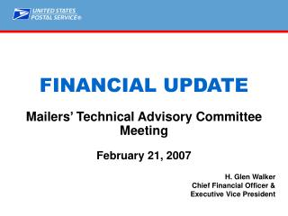 Mailers' Technical Advisory Committee Meeting February 21, 2007