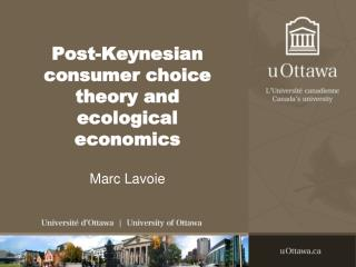 Post-Keynesian consumer choice   theory and ecological economics