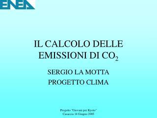 IL CALCOLO DELLE EMISSIONI DI CO2