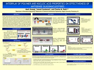 INTERPLAY OF POLYMER AND NUCLEIC ACID PROPERTIES ON EFFECTIVENESS OF ANTISENSE OLIGONUCLEOTIDES