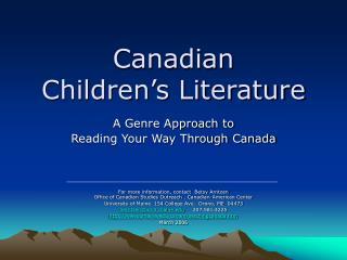 Canadian  Children�s Literature