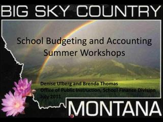 School Budgeting and Accounting Summer Workshops