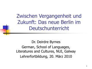 Zwischen Vergangenheit und Zukunft: Das neue Berlin im Deutschunterricht
