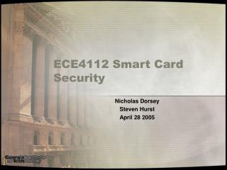 ECE4112 Smart Card Security