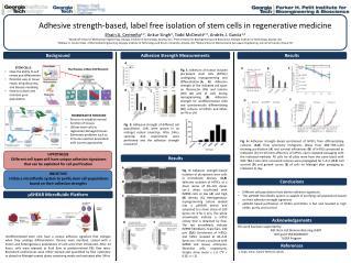 Adhesive  strength-based, label free isolation of stem cells in regenerative medicine