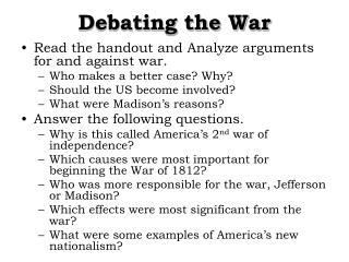 Debating the War