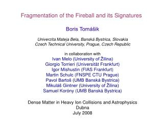 Boris Tomášik Univerzita Mateja Bela, Banská Bystrica, Slovakia