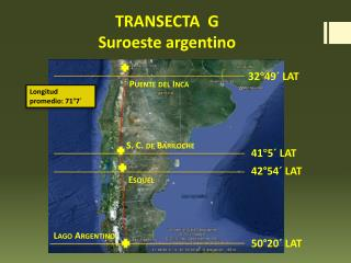 TRANSECTA  G Suroeste argentino