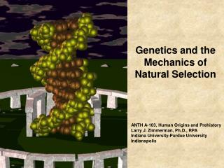 Genetics and the Mechanics of Natural Selection