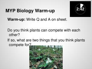 MYP Biology Warm-up