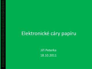 Elektronické cáry papíru