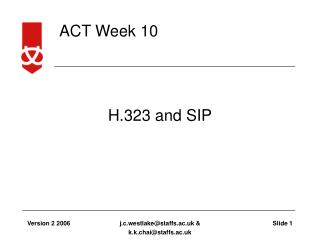 H.323 and SIP
