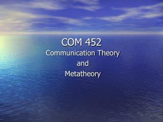 COM 452