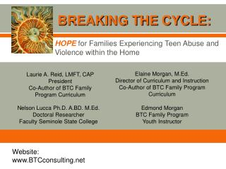 HOPE for Families Experiencing Teen Abuse and Violence within the Home