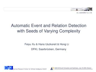 Feiyu Xu & Hans Uszkoreit & Hong Li